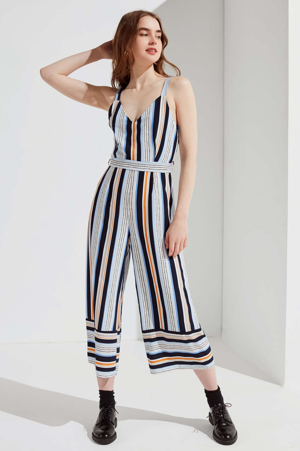 Lost Wander Claudia Striped Jumpsuit Urban Outfitters