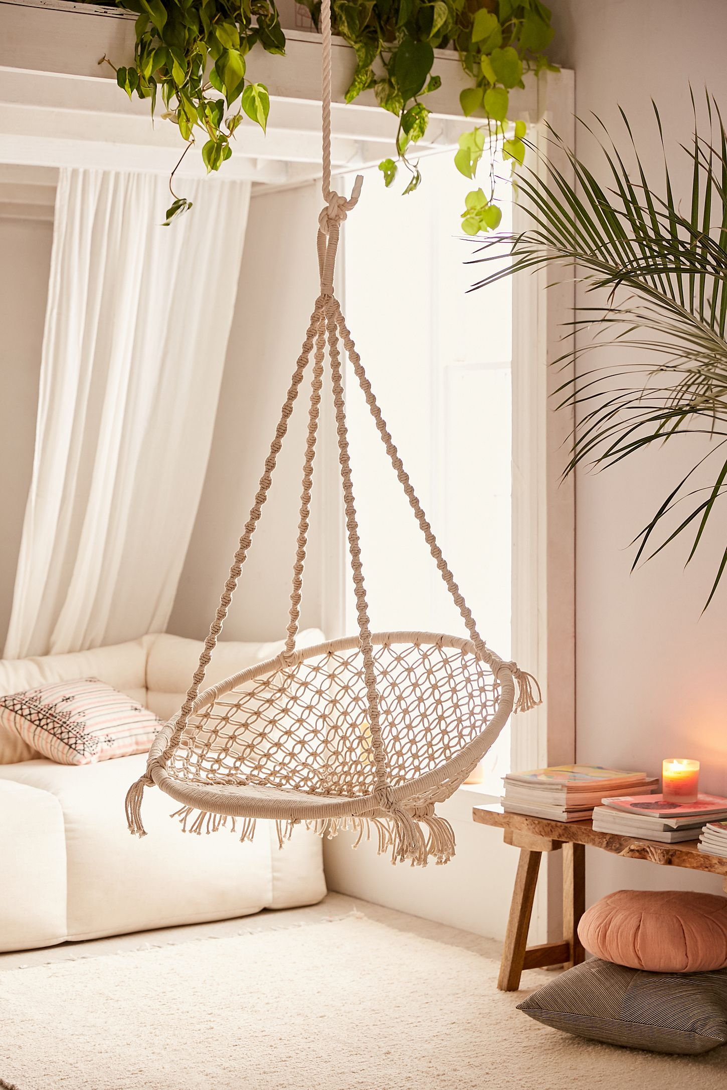 Meadow Macrame Hanging Chair Urban Outfitters