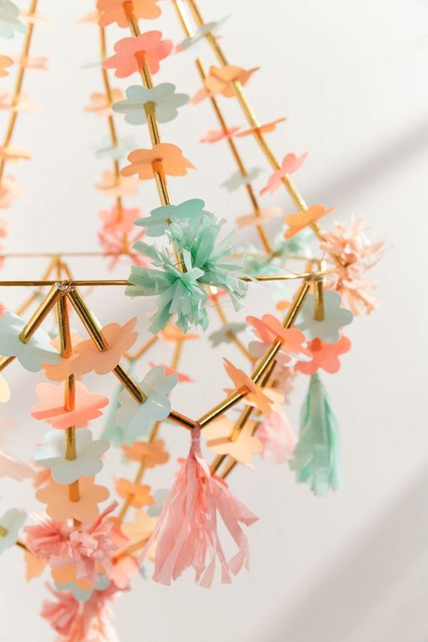 Meri meri paper flower chandelier urban outfitters slide view 4 meri meri paper flower chandelier aloadofball Image collections