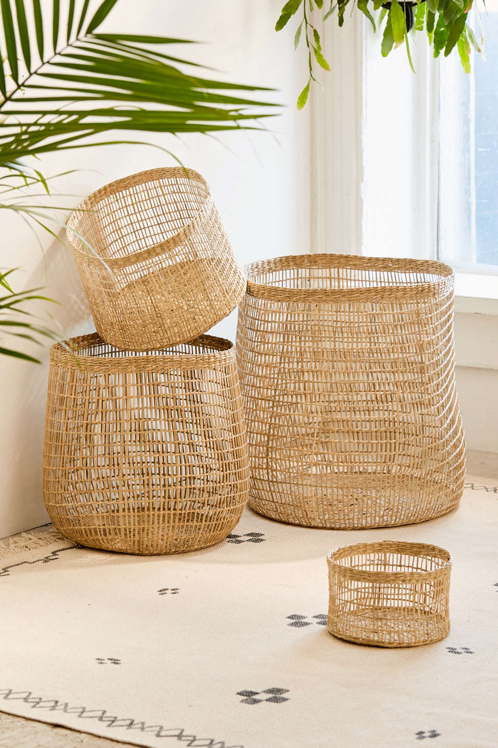 Slide View: 1: Woven Caged Storage Basket
