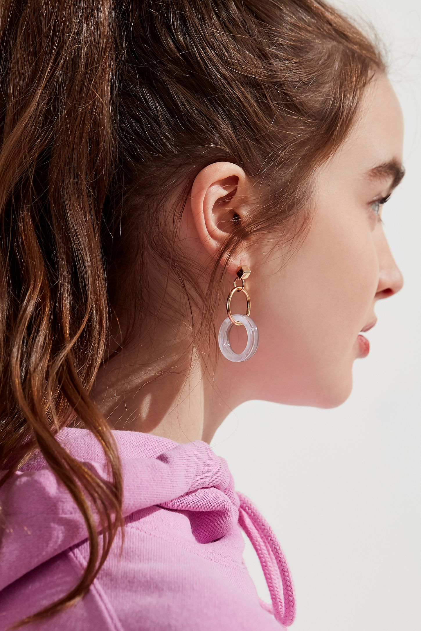 circle topshop earrings sale long circular drop zoom