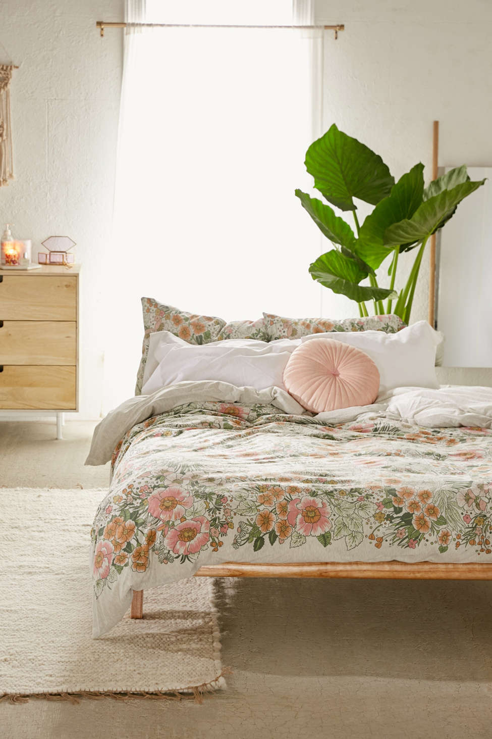 Lovise Floral Jersey Duvet Cover Urban Outfitters