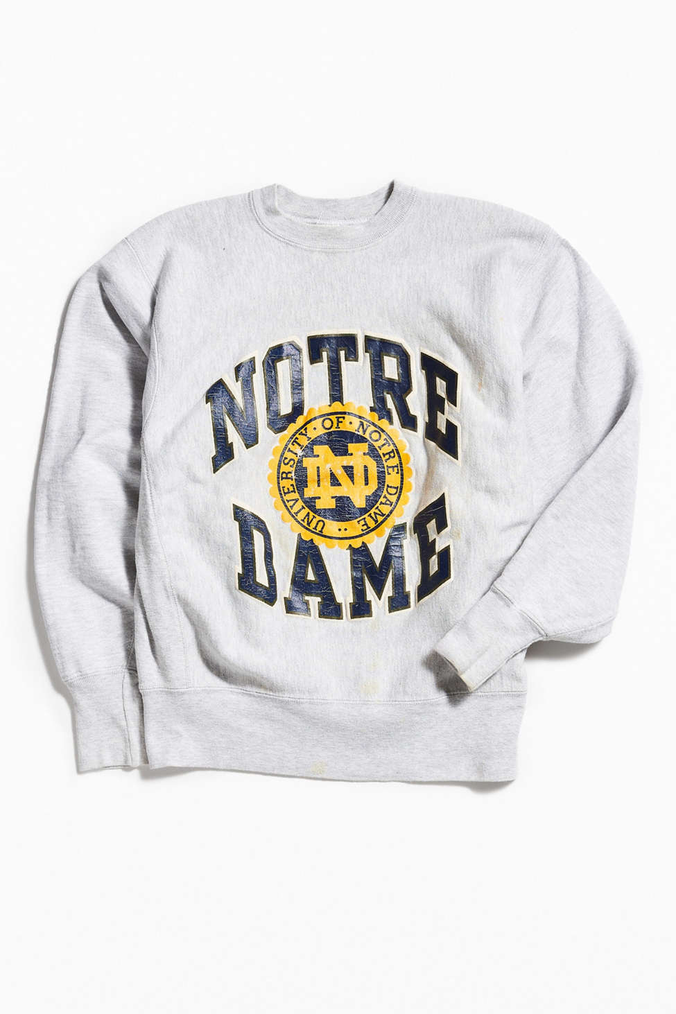 Vintage Champion Notre Dame Crew Neck Sweatshirt Urban Outfitters