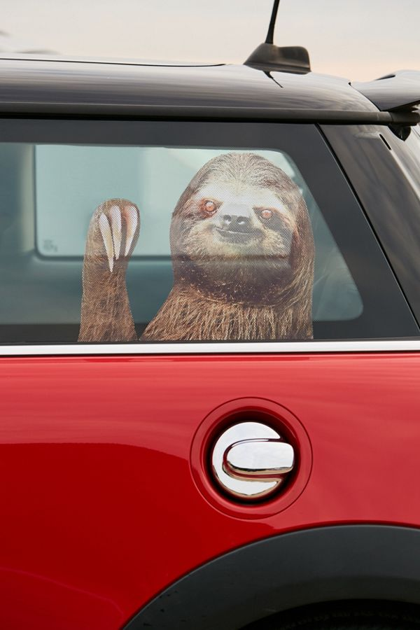 Slide view 1 sloth car decal