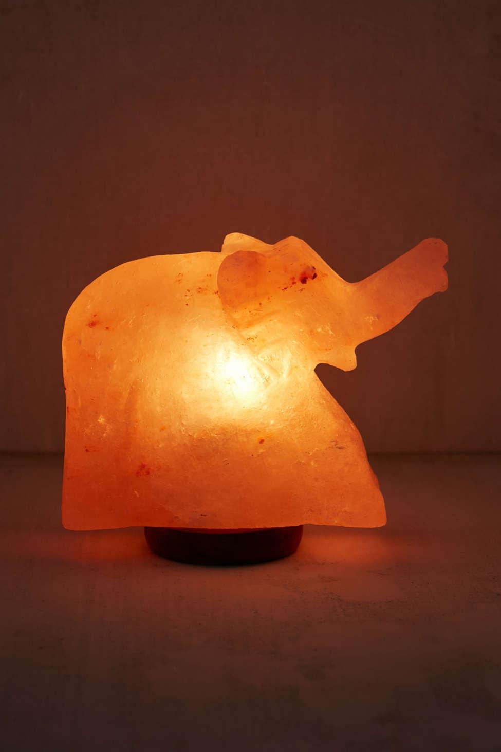 Lampe Au Sel De L Himalaya En Forme D Elephant Urban Outfitters Canada