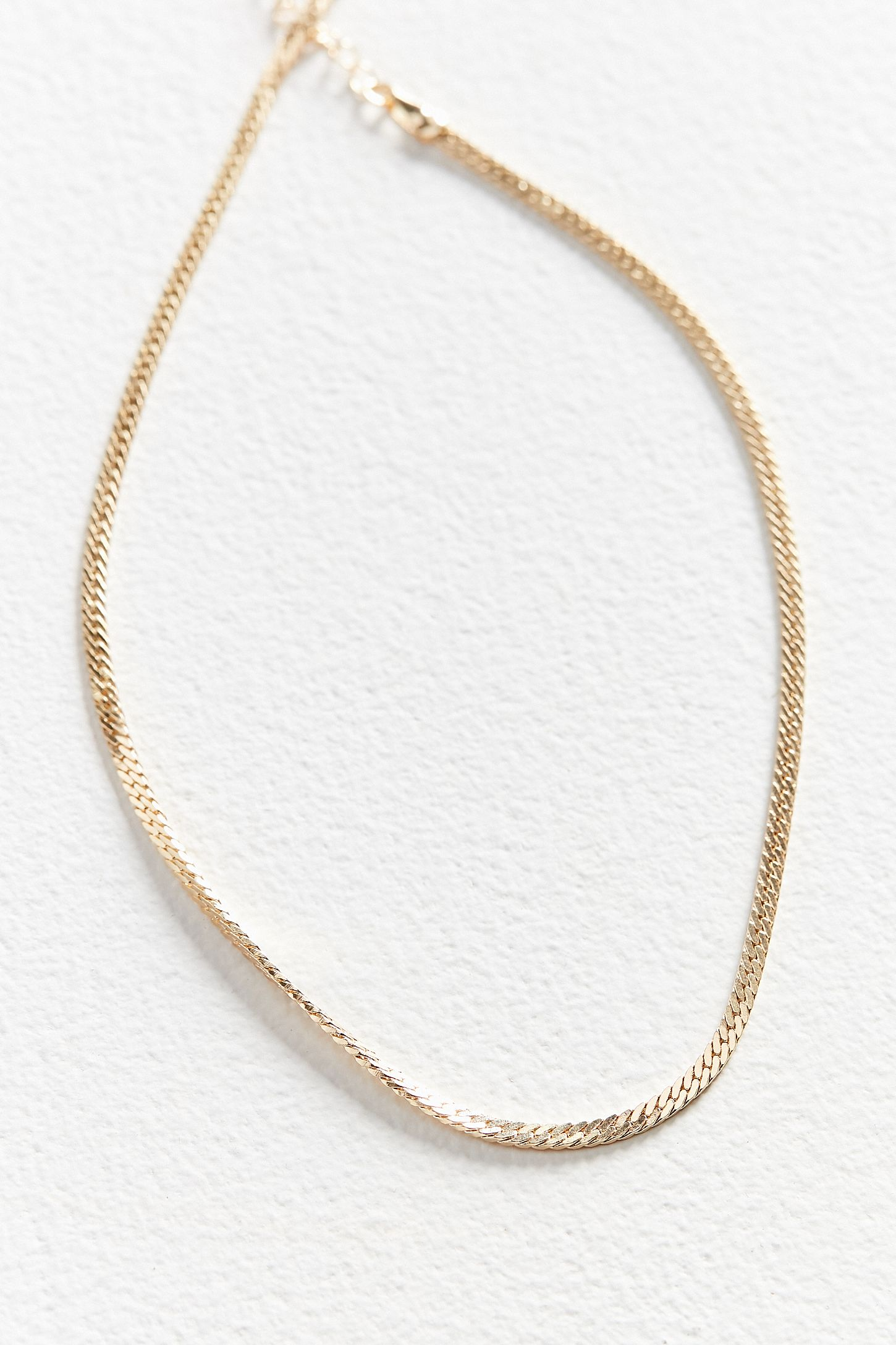 necklace jewels products chain rectangular delicate hestia retangular gold