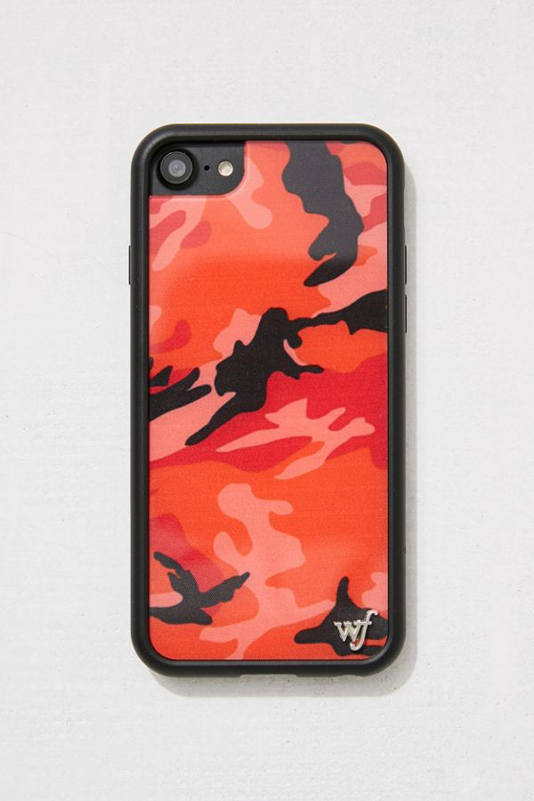 Wildflower Red Camo Iphone 8 7 6 Case Urban Outfitters