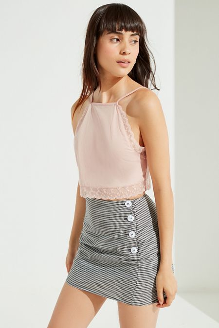 UO Stockholm Side Button-Down Mini Skirt