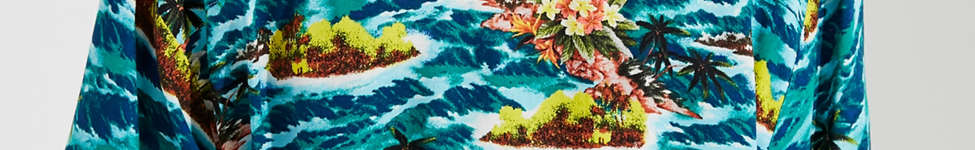Thumbnail View 3: UO Cropped Button-Down Hawaiian Shirt