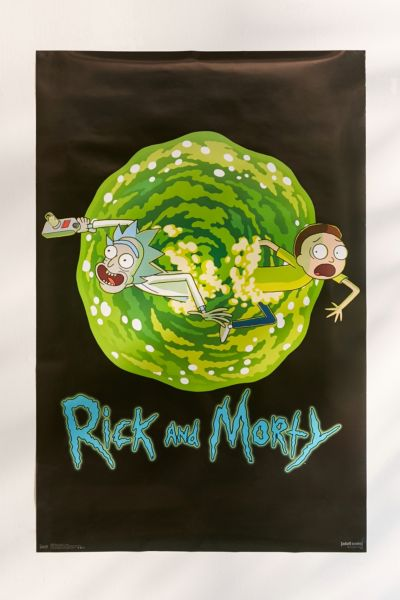 Rick And Morty Portal Poster - Black One Size at Urban Outfitters