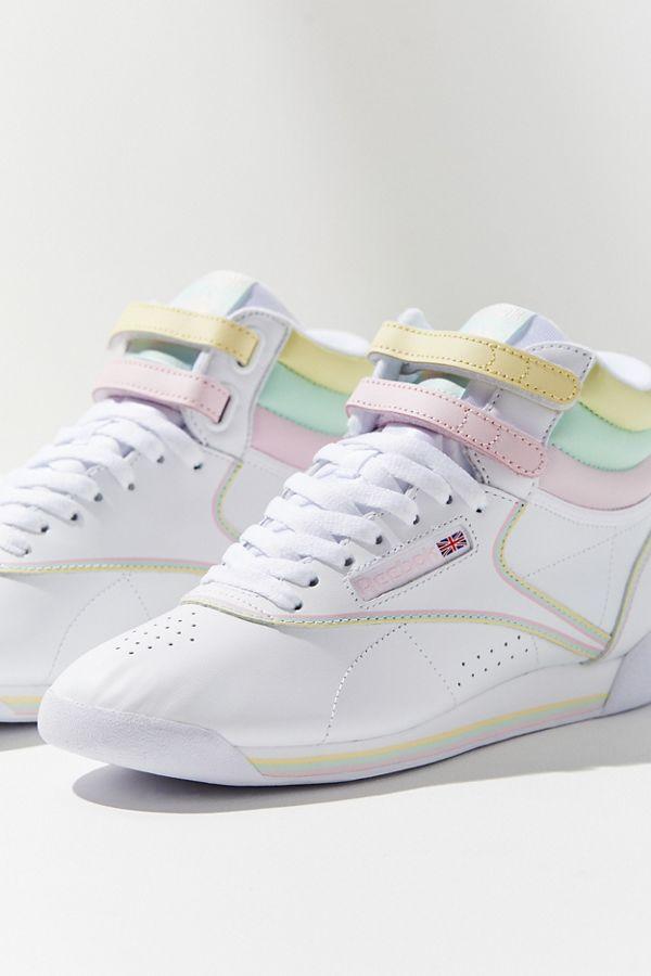Reebok X GLOW Freestyle Hi Pastel Sneaker  19ea881ef