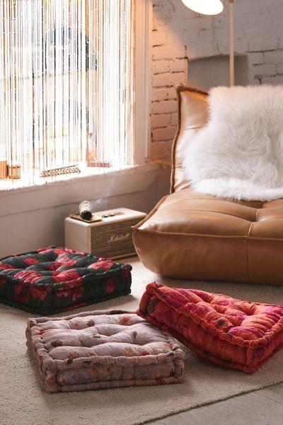 Sierra Floral Velvet Floor Pillow by Urban Outfitters