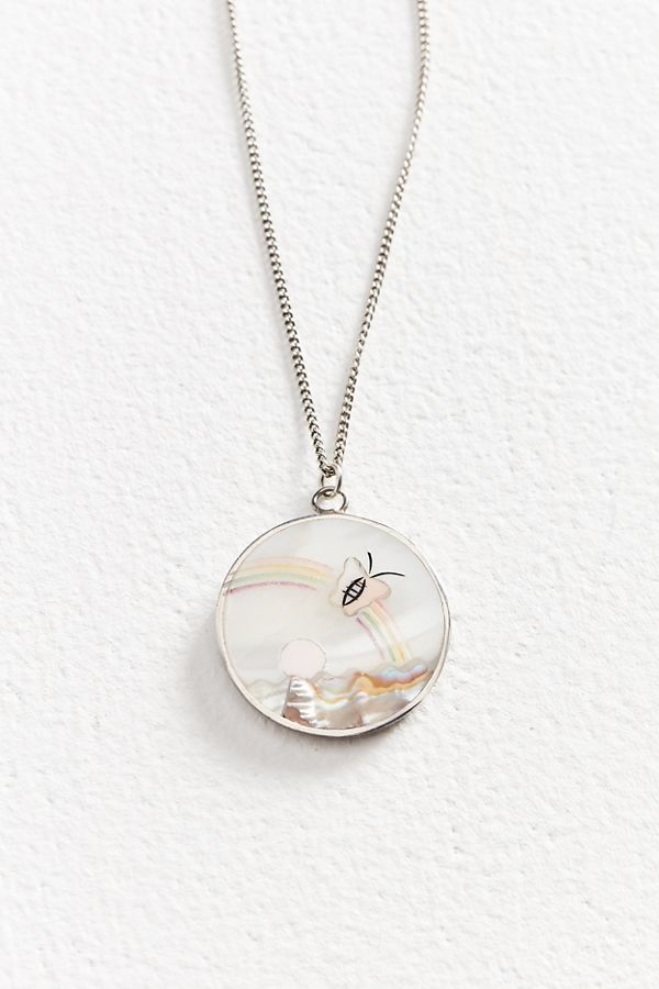 necklaces pandora heart en with necklace rainbow pendants estore