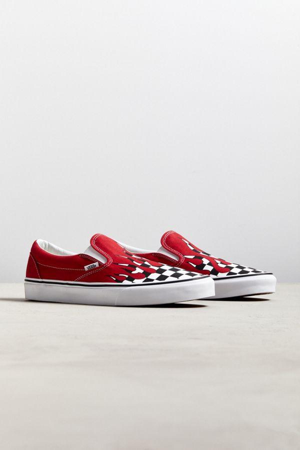 Vans Slip-On Checkerboard Flame Sneaker  4674167a0b