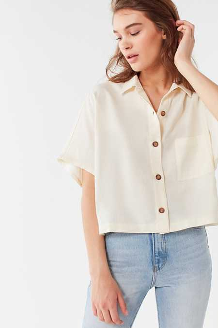Urban Renewal Remnants Linen Button-Down Shirt