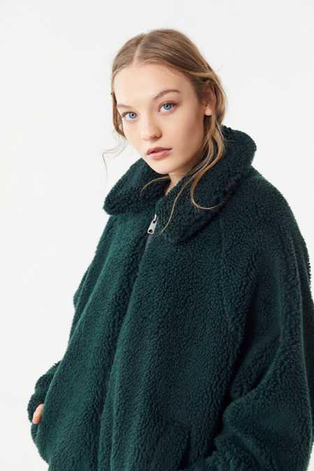 Pink Women S Faux Fur Teddy Fuzzy Jackets Urban Outfitters