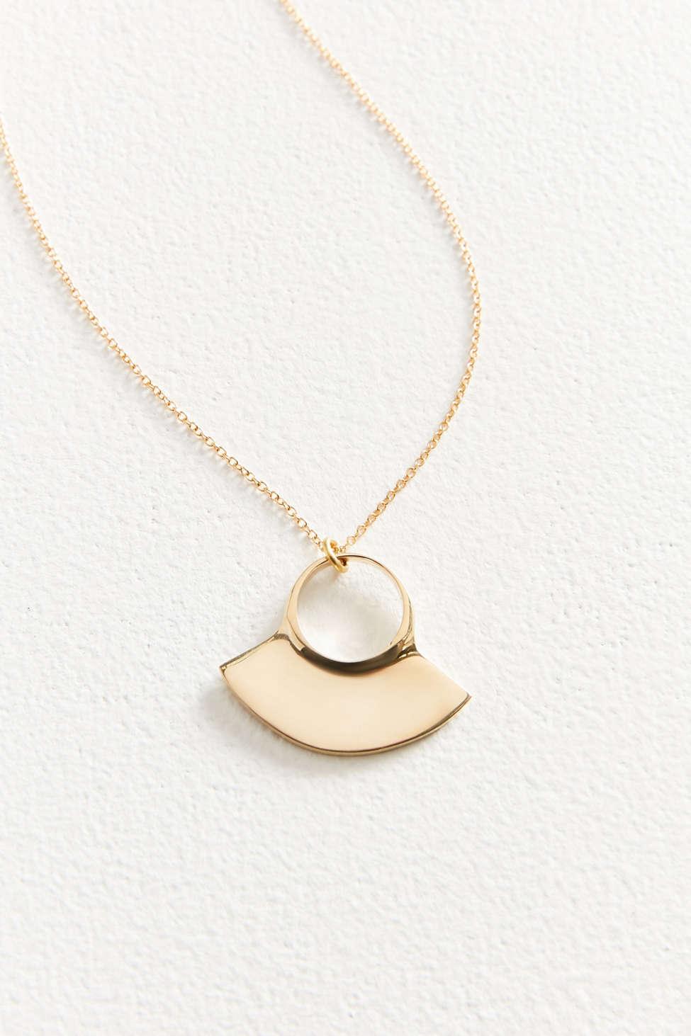 Soko Petite Paddle Pendant Brass VAzc4