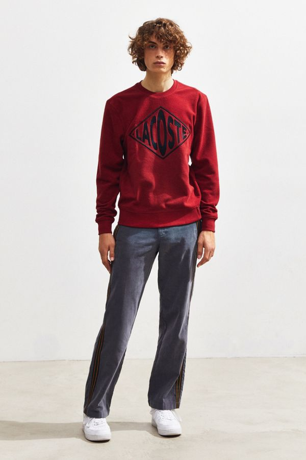 Outfitters Neck Crew Lacoste Sweatshirt Logo Embroidered Urban OwqvYxnFBv