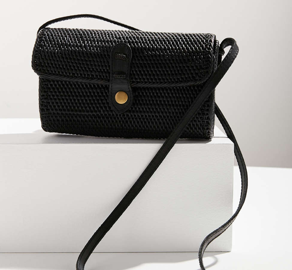 Slide View: 1: Ida Straw Crossbody Bag