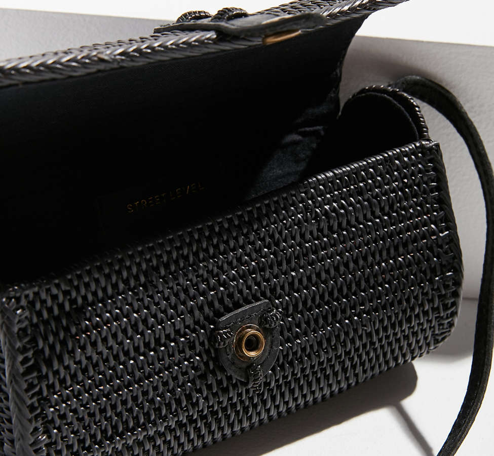 Slide View: 4: Ida Straw Crossbody Bag