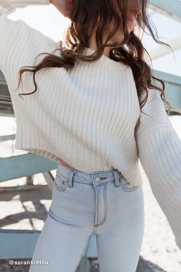 Uo Andi Pullover Crew Neck Sweater Urban Outfitters