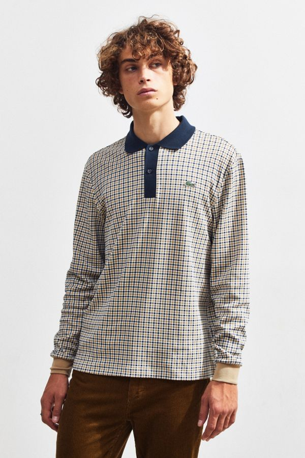 5e668273d6f02 Lacoste LIVE Interlocked Long Sleeve Polo Shirt   Urban Outfitters