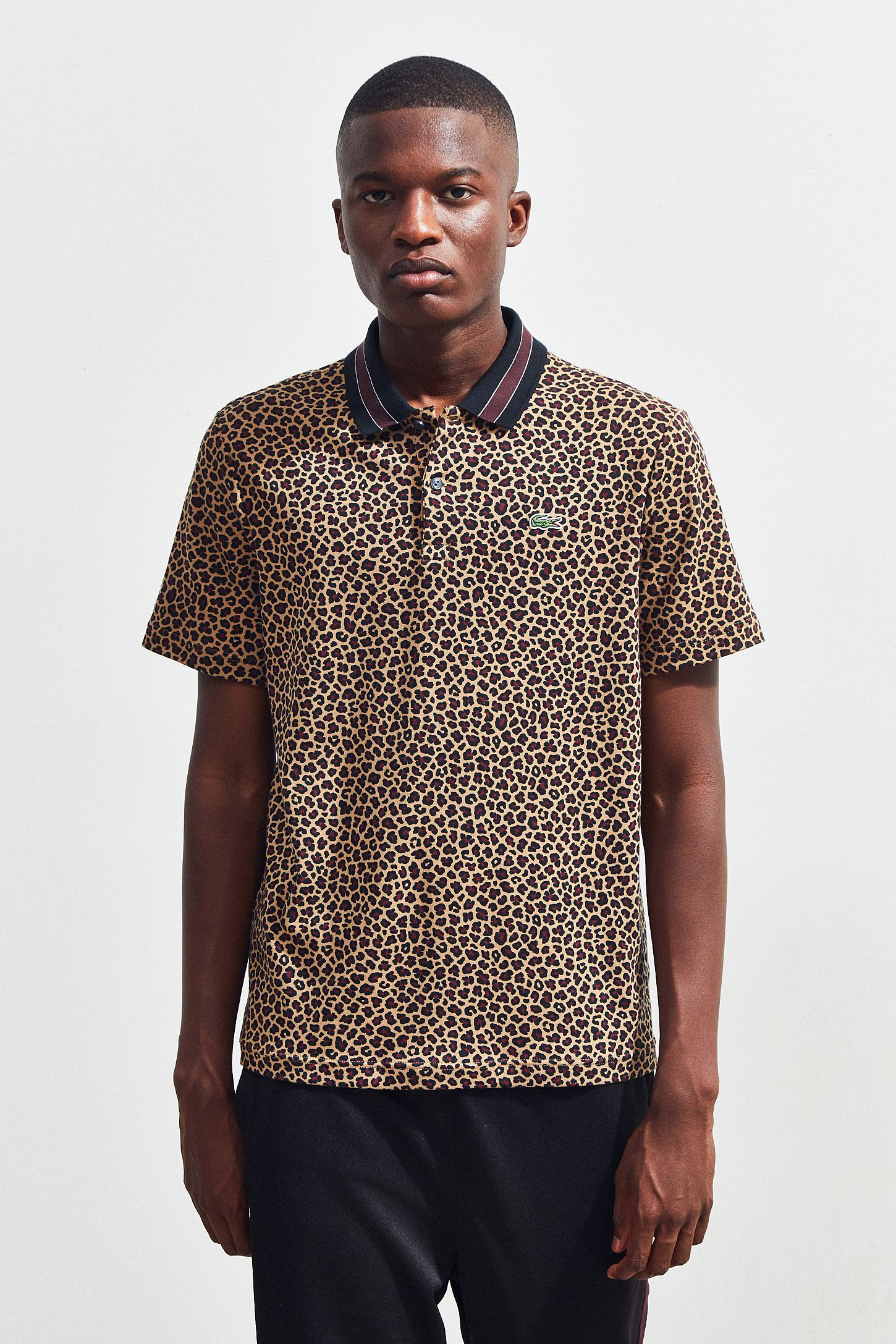 Lacoste Leopard Print Polo Shirt Urban Outfitters