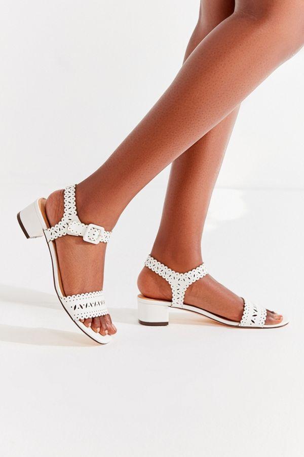 Mara Laser-Cut Sandal 4cmGd6