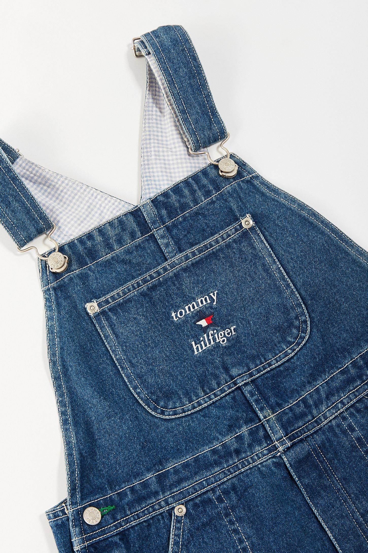 e32b3ddbf6c43 Vintage Tommy Hilfiger  90s Embroidered Denim Overall