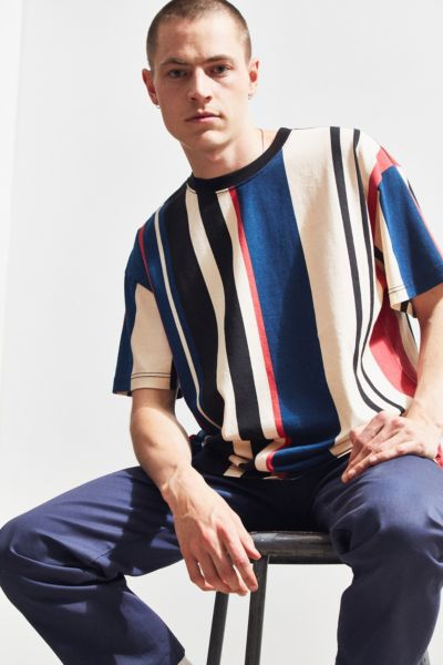 Uo Wide Vertical Stripe Dad Tee by Urban Outfitters