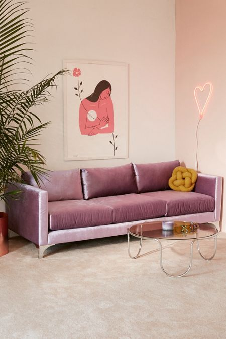 Purple Living Room Furniture. Chamberlin Velvet Sofa Purple  Home Apartment Furniture Urban Outfitters