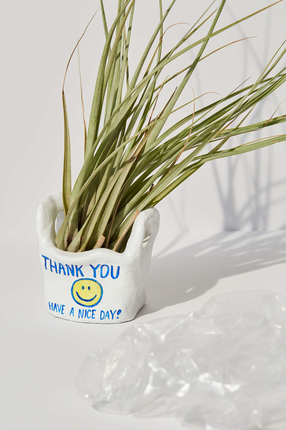 Slide View: 1: Hello Happy Plants Bag Planter