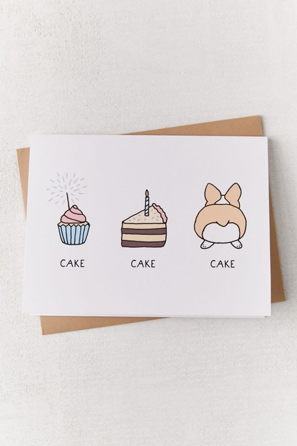 Tiffbits Cake Cake Cake Birthday Card Urban Outfitters