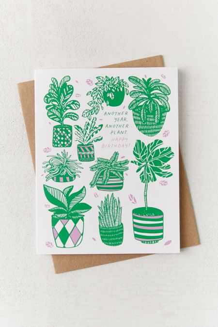 Birthday cards funny greeting cards urban outfitters the good twin another plant birthday card bookmarktalkfo Choice Image