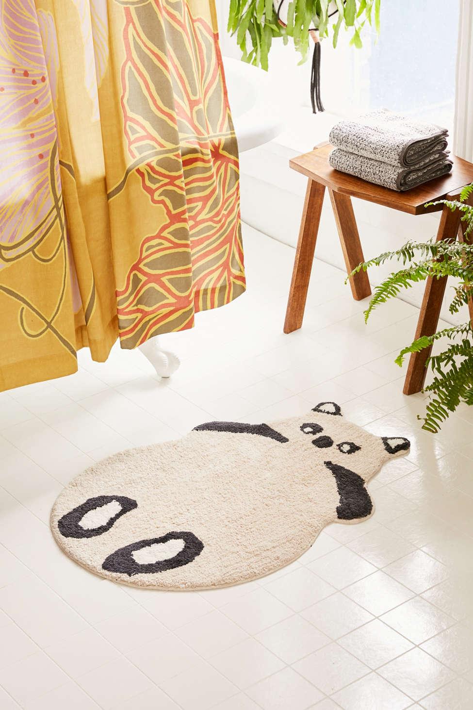 Slide View: 1: Panda Bath Mat