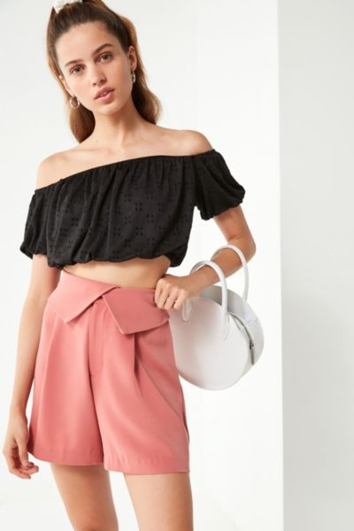 Uo Blanche Foldover Short by Urban Outfitters