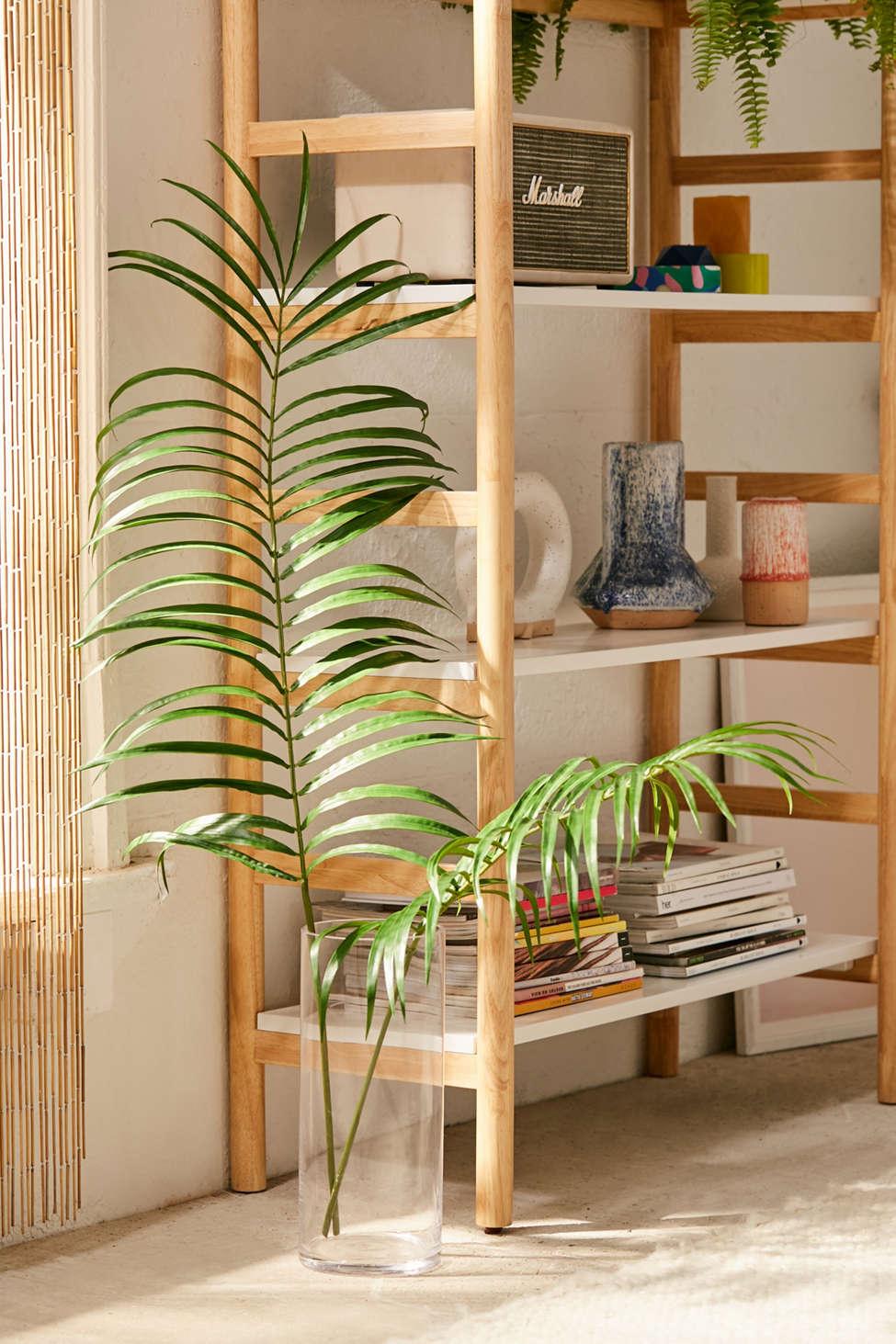 Slide View: 1: Faux Palm Leaf Pair