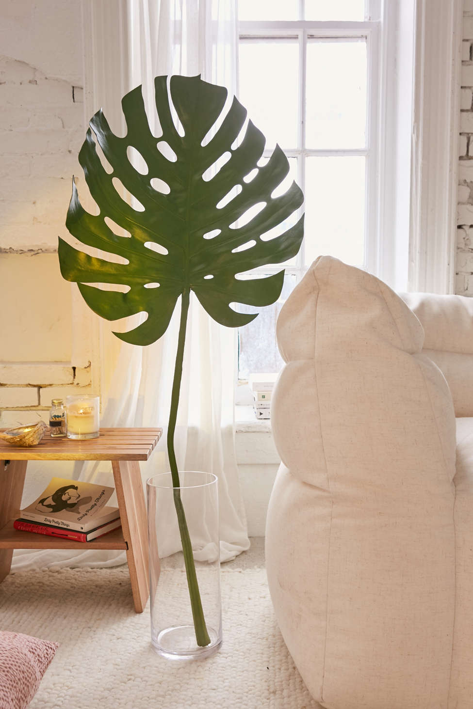 Slide View: 1: Faux Giant Monstera Leaf