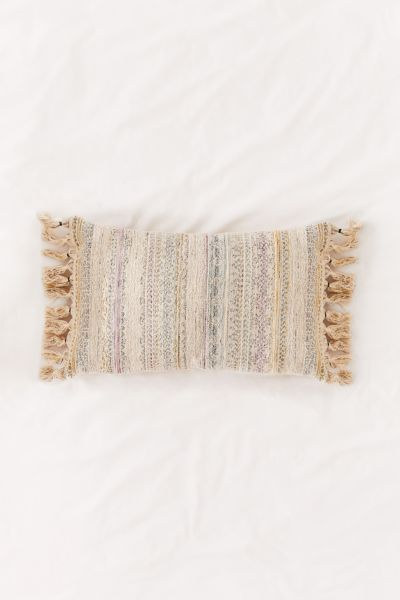 Rainbow Woven Lumbar Pillow by Urban Outfitters