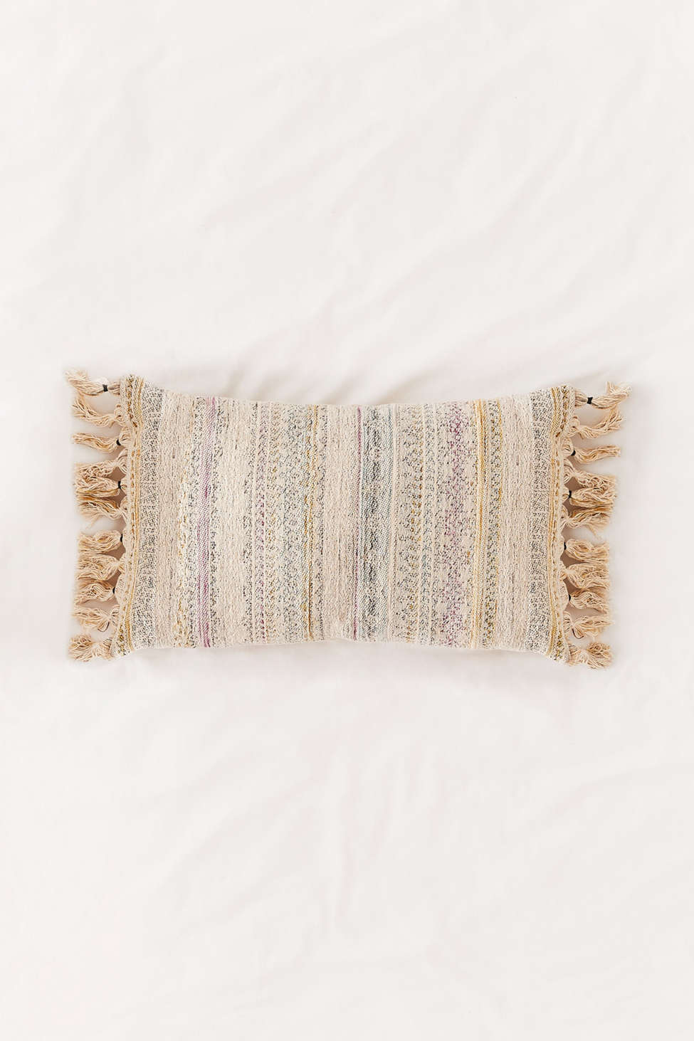 Slide View: 1: Rainbow Woven Lumbar Pillow
