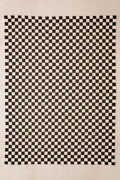 Checkerboard Printed Rug by Urban Outfitters