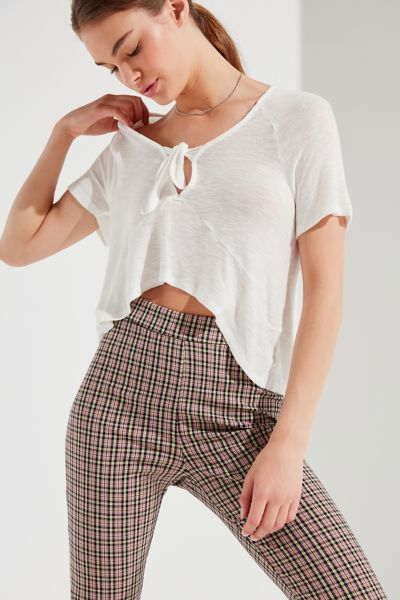 Uo Safari Tie Front Tee by Urban Outfitters