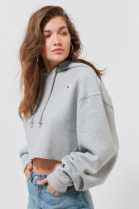 Champion UO Exclusive Cropped Hoodie Sweatshirt f5bd4b4416