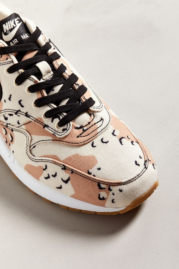 Nike Air Max 1 Premium Camo Canvas Sneaker | Urban Outfitters