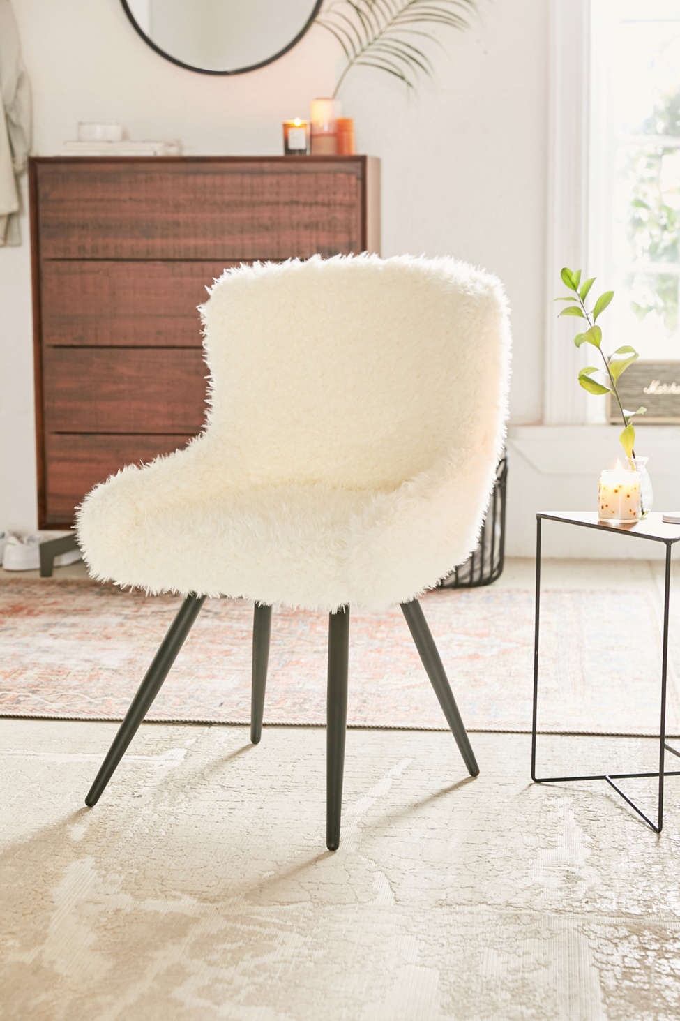 Slide View: 1: Stella Faux Fur Chair