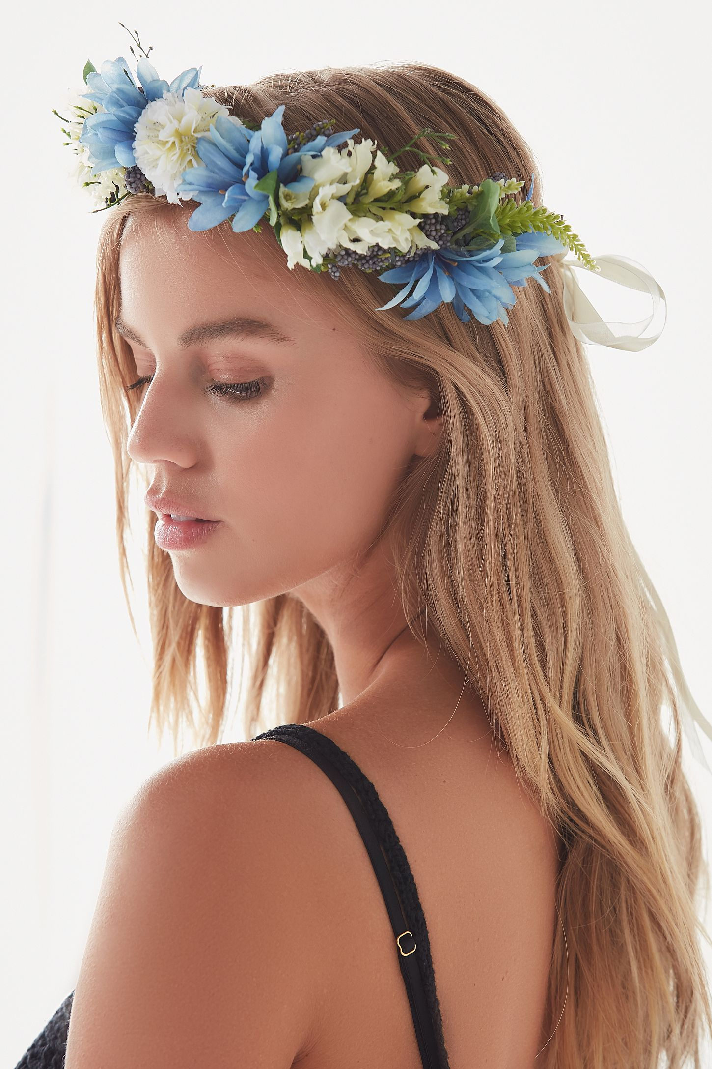 Rock n rose taylor floral meadow crown headband urban outfitters double tap to zoom izmirmasajfo