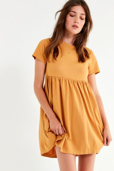 Uo Alexa Babydoll T Shirt Dress by Urban Outfitters