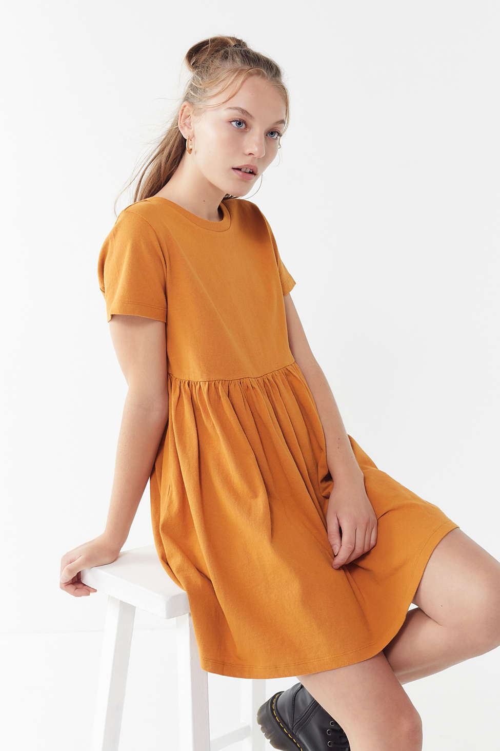 Slide View: 1: UO Alexa Babydoll T-Shirt Dress