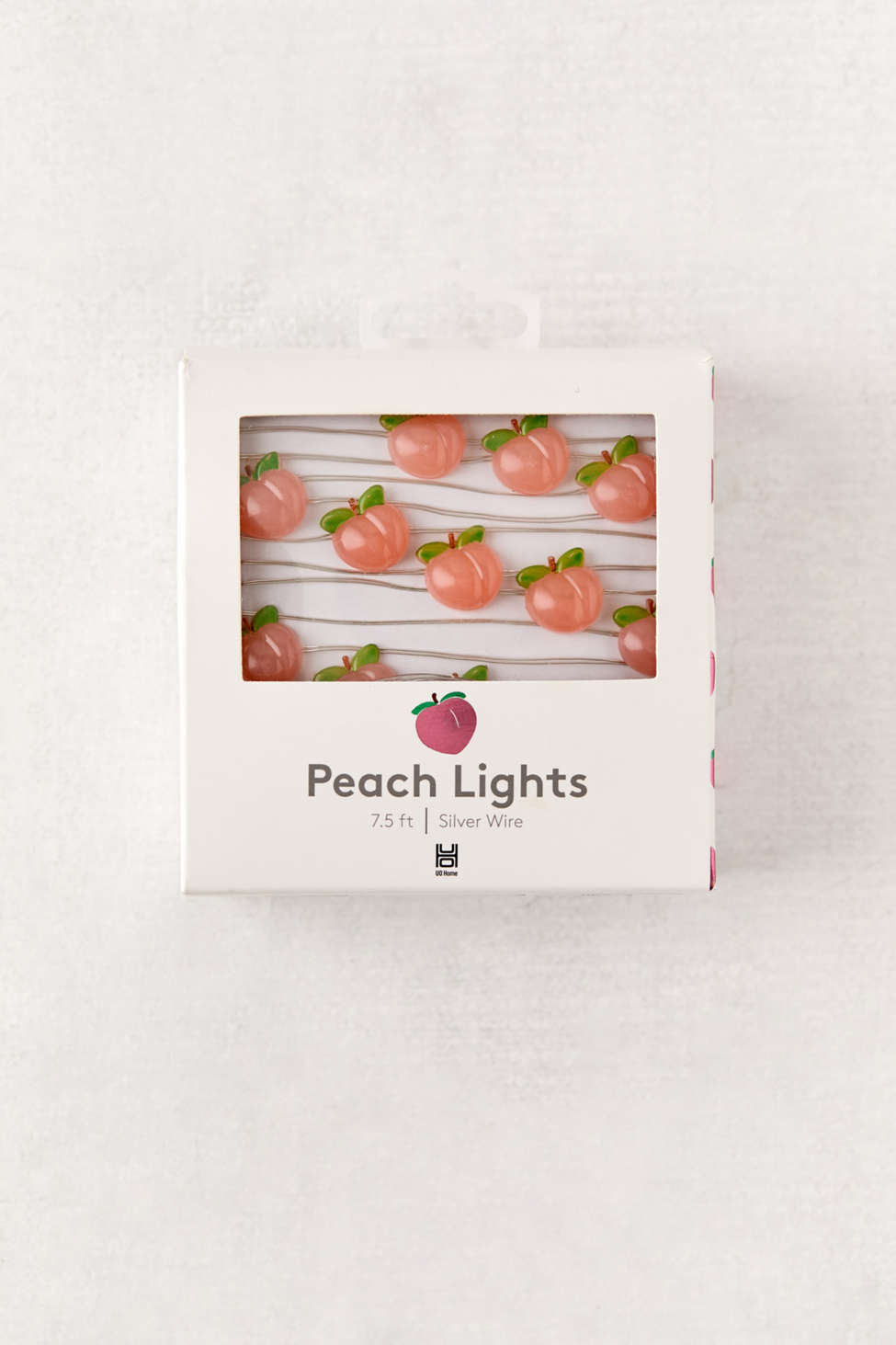 Slide View: 1: Peach Battery Powered String Lights
