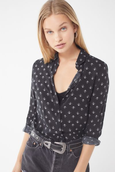 Uo Finley Printed Button Down Shirt by Urban Outfitters